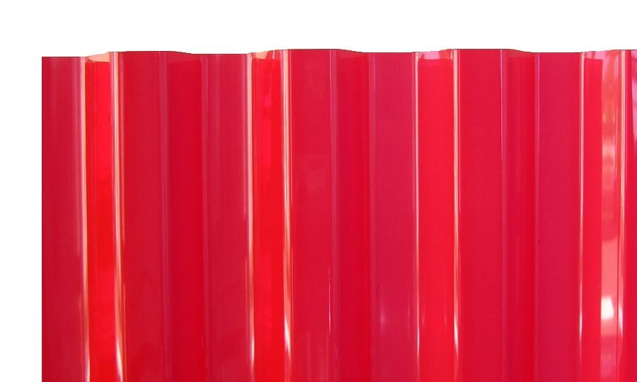 PVC Wellplatten Trapez 70/18 rot transparent