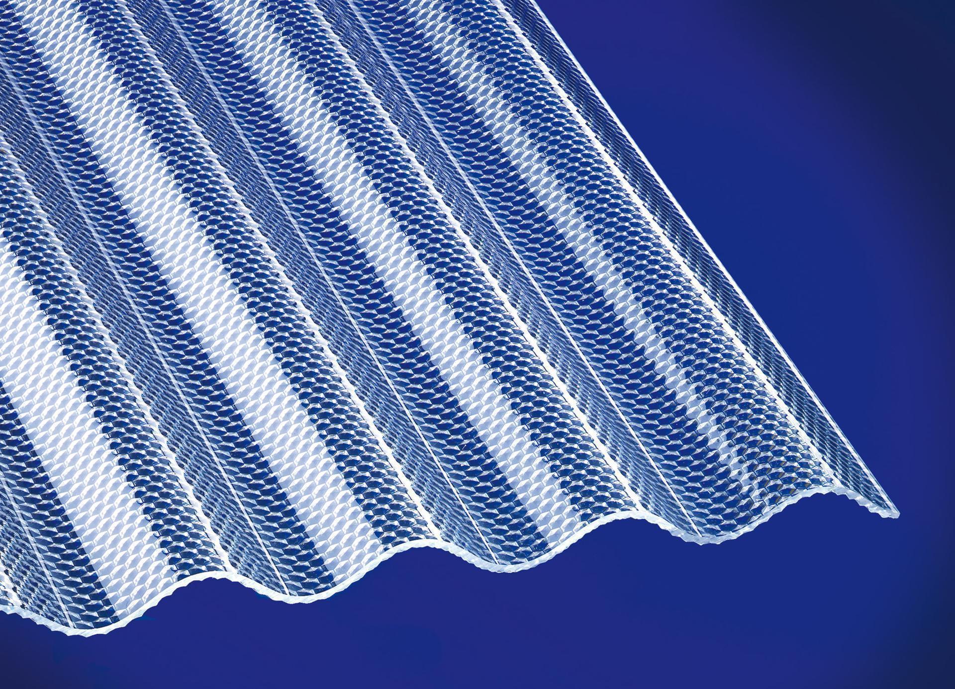Acryl Wellplatten Sinus 76/18 wabe klar 3 mm