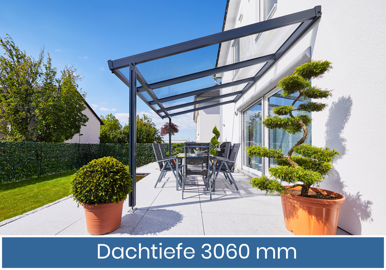 Gutta Premium Terrassendach | Dachtiefe 306 cm