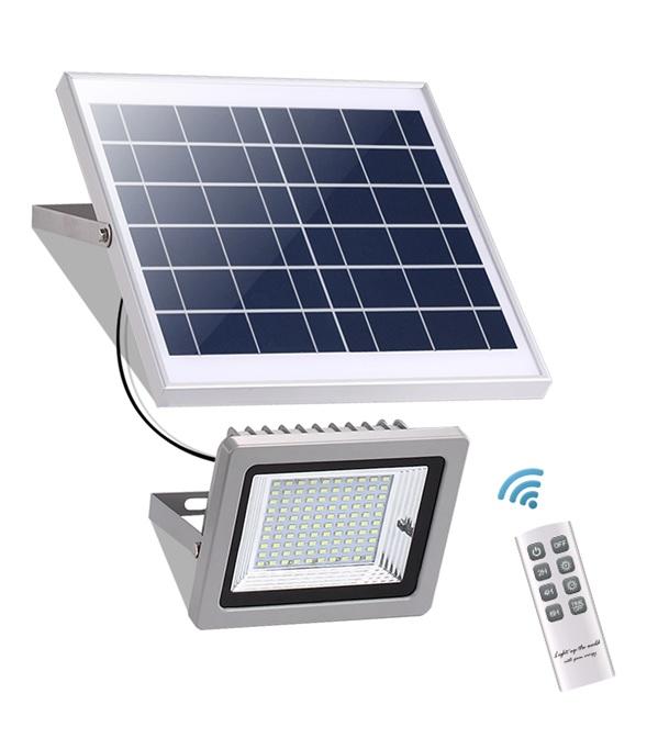 LED Solarlampe SL 386C mit Fernbedienung Alu silber