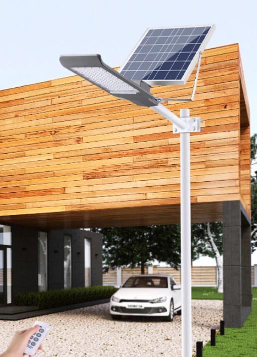 LED Solarlampe SL 680E mit Fernbedienung Alu grau