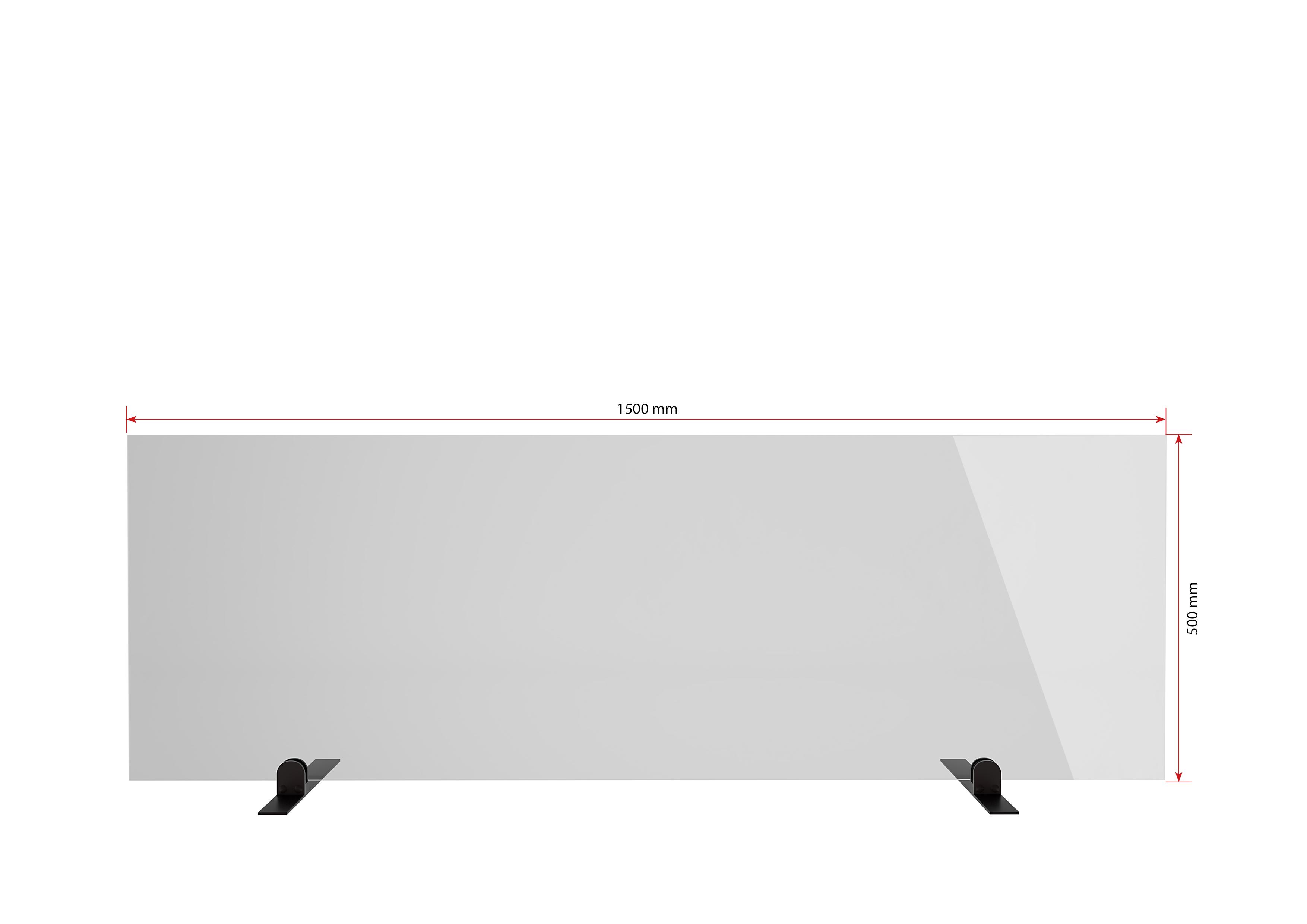 Gutta Spuckschutzwand Premium 1500 x 750 x 6 mm