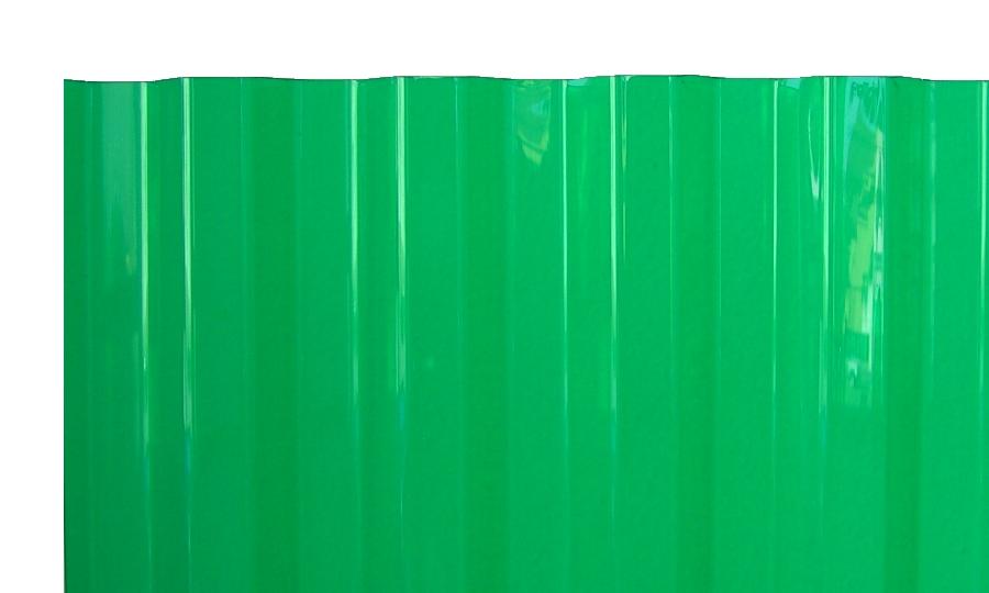 PVC Wellplatten Trapez 70/18 grün transparent