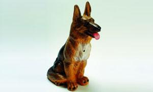 Figur großer Schäferhund 38 cm mit Bewegungsmelder 88023