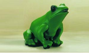 Figur Frosch 18 cm mit Bewegungsmelder 88011