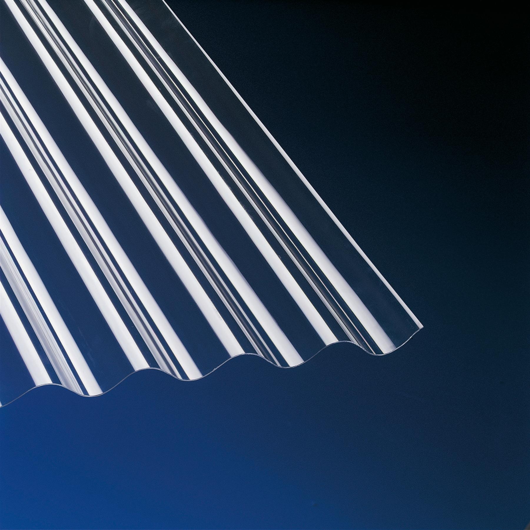 PVC Wellplatten Sinus 76/18 klar