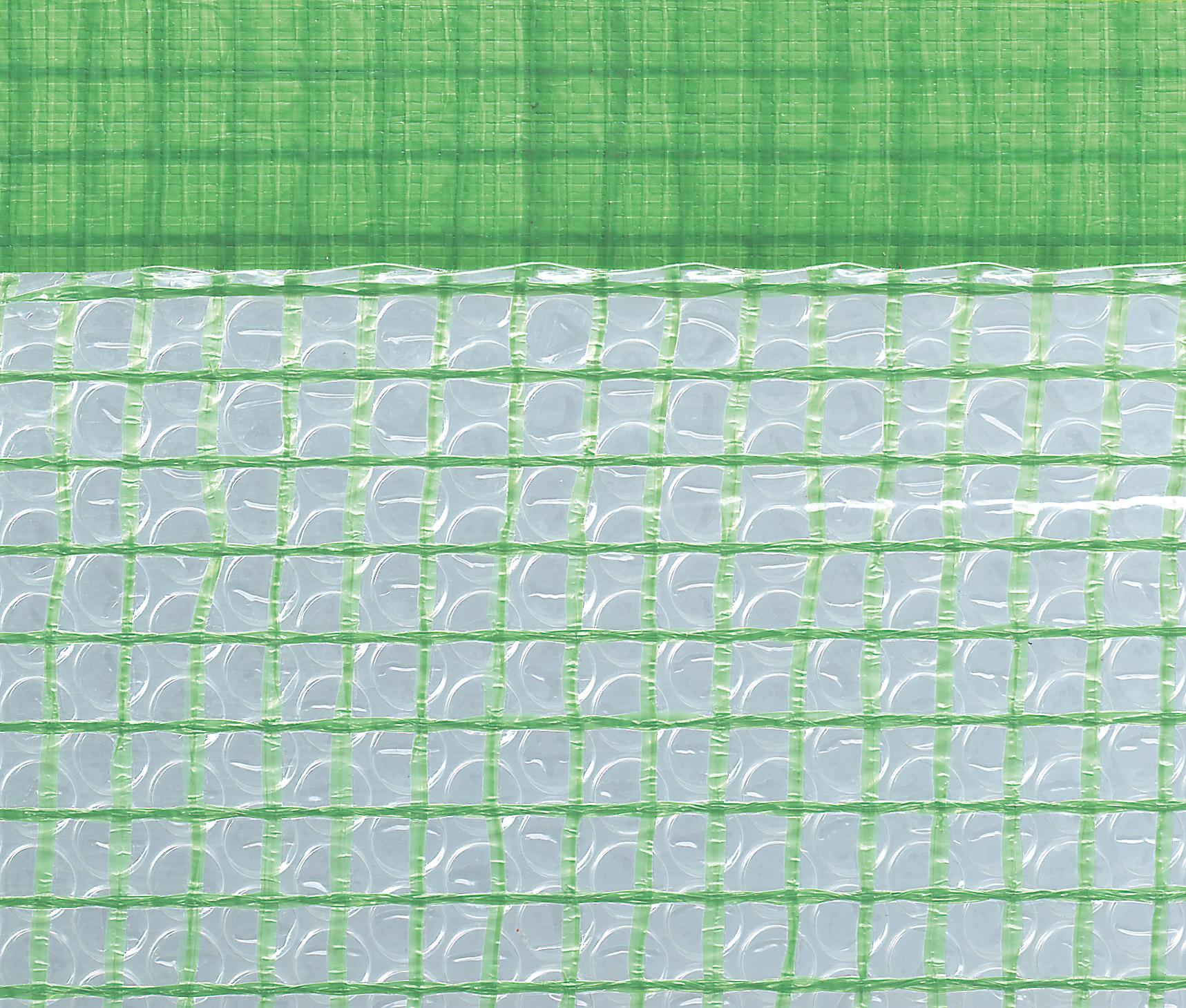 Gitterfolie mit Luftpolster und Nagelrand 1,5 x 25 m Rolle