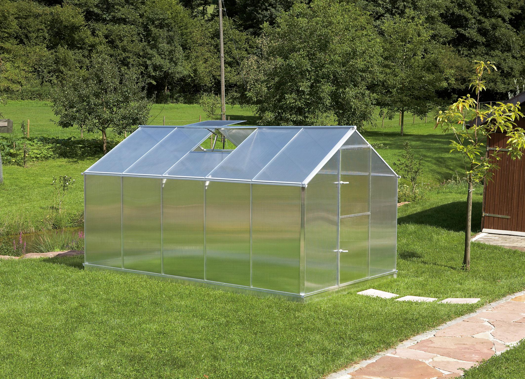 Gutta Aluminium Gewächshaus 8,49 m² Typ F5