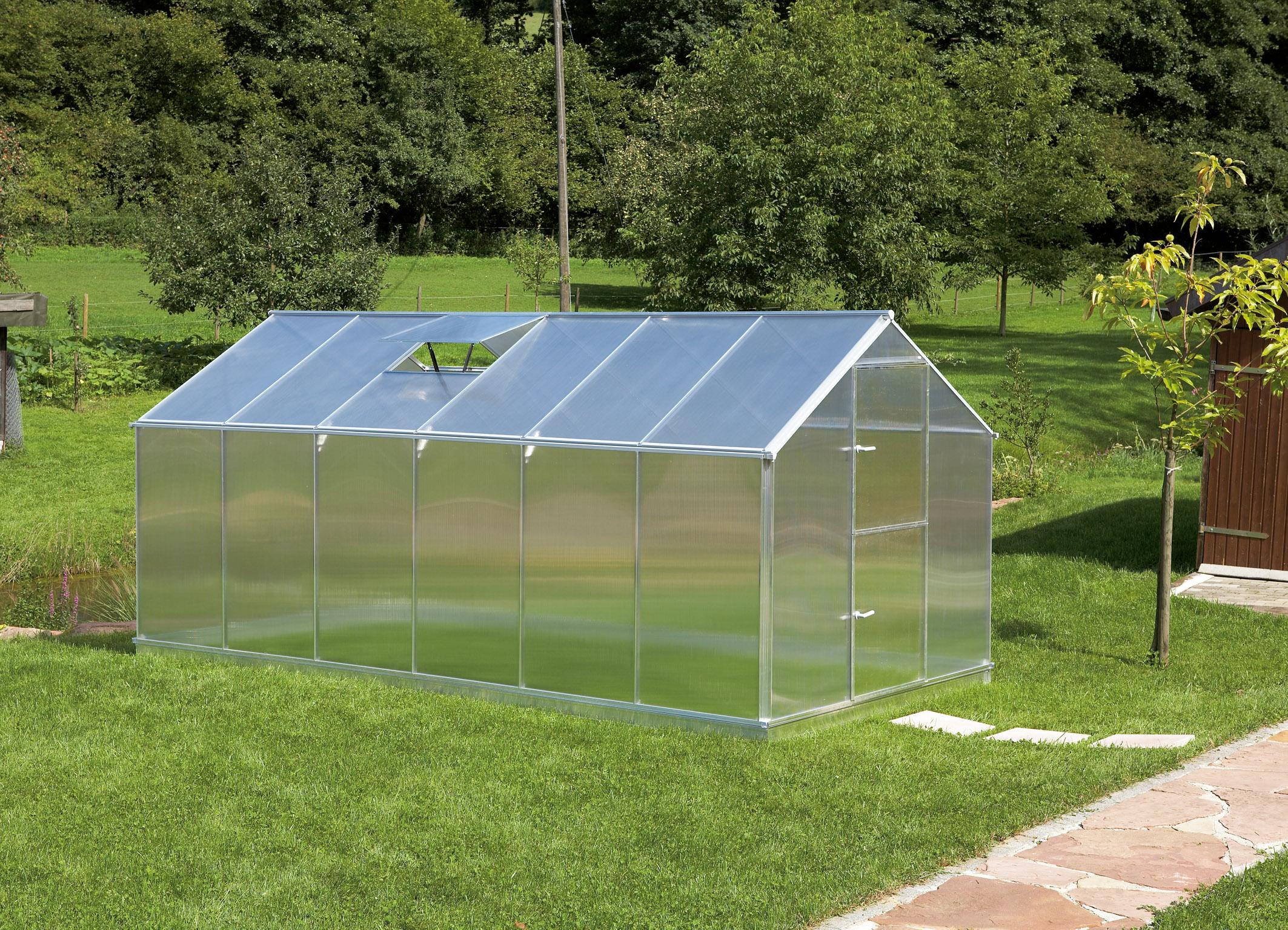 Gutta Aluminium Gewächshaus 10,17 m² Typ F6