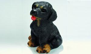 Figur Rottweiler 21 cm mit Bewegungsmelder 88060
