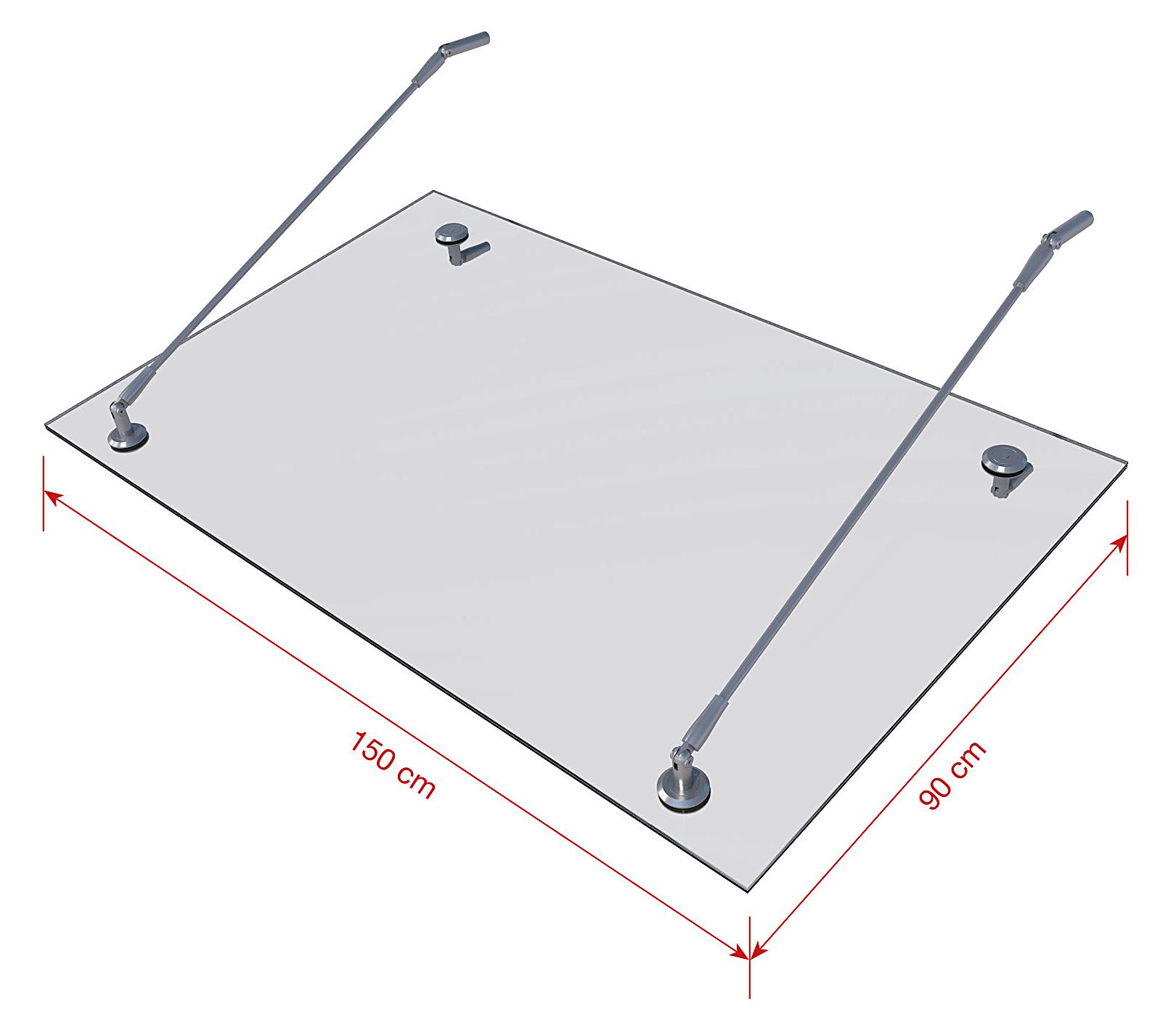 Echtglasvordach VD501
