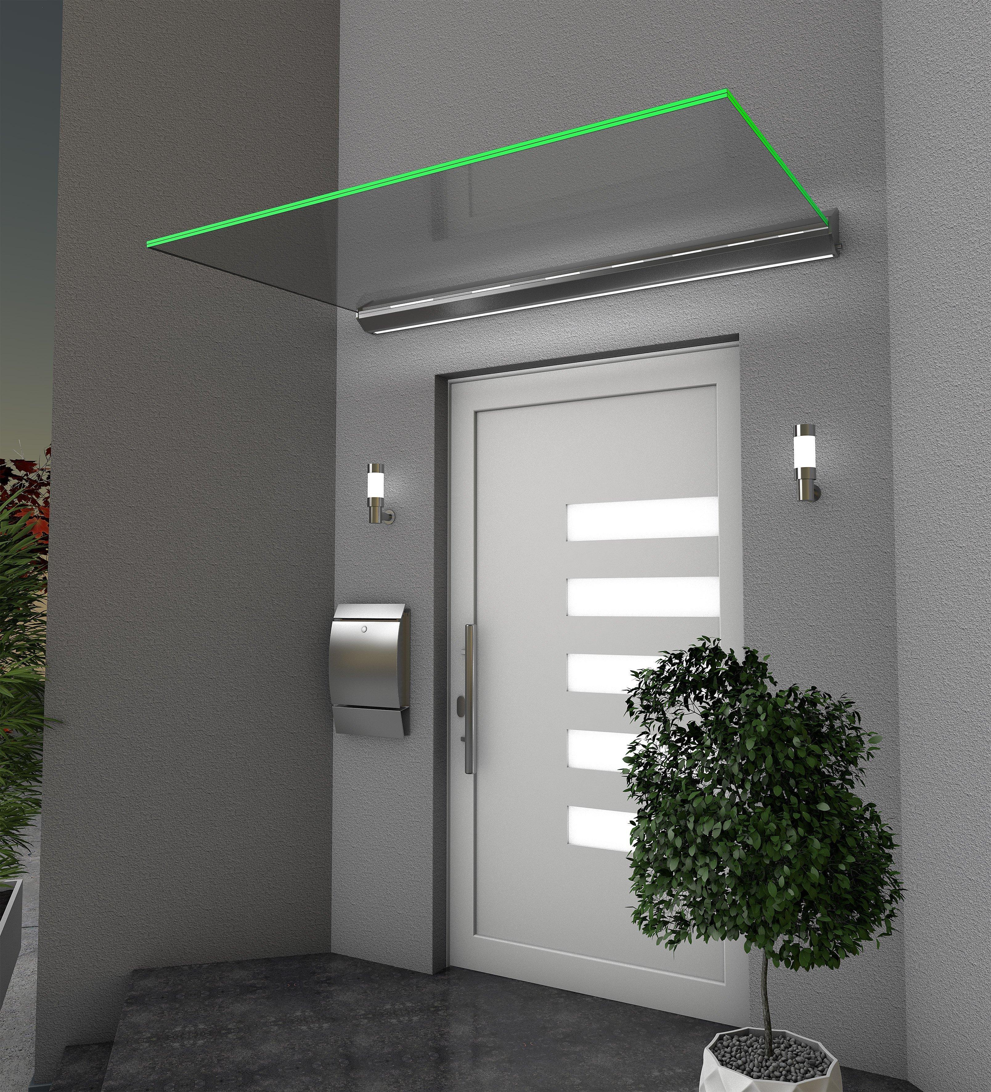 Echtglasvordach HD/LED