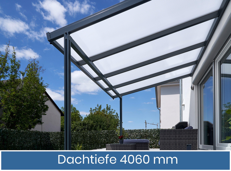 Gutta Premium Terrassendach | Dachtiefe 406 cm