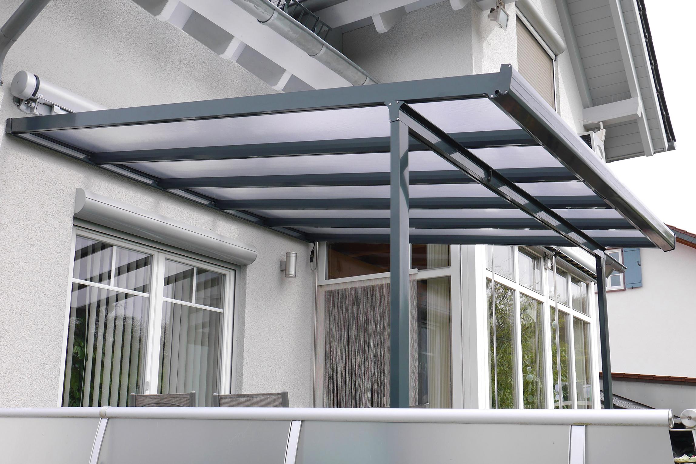 Gutta Terrassenüberdachung Bausatz anthrazit
