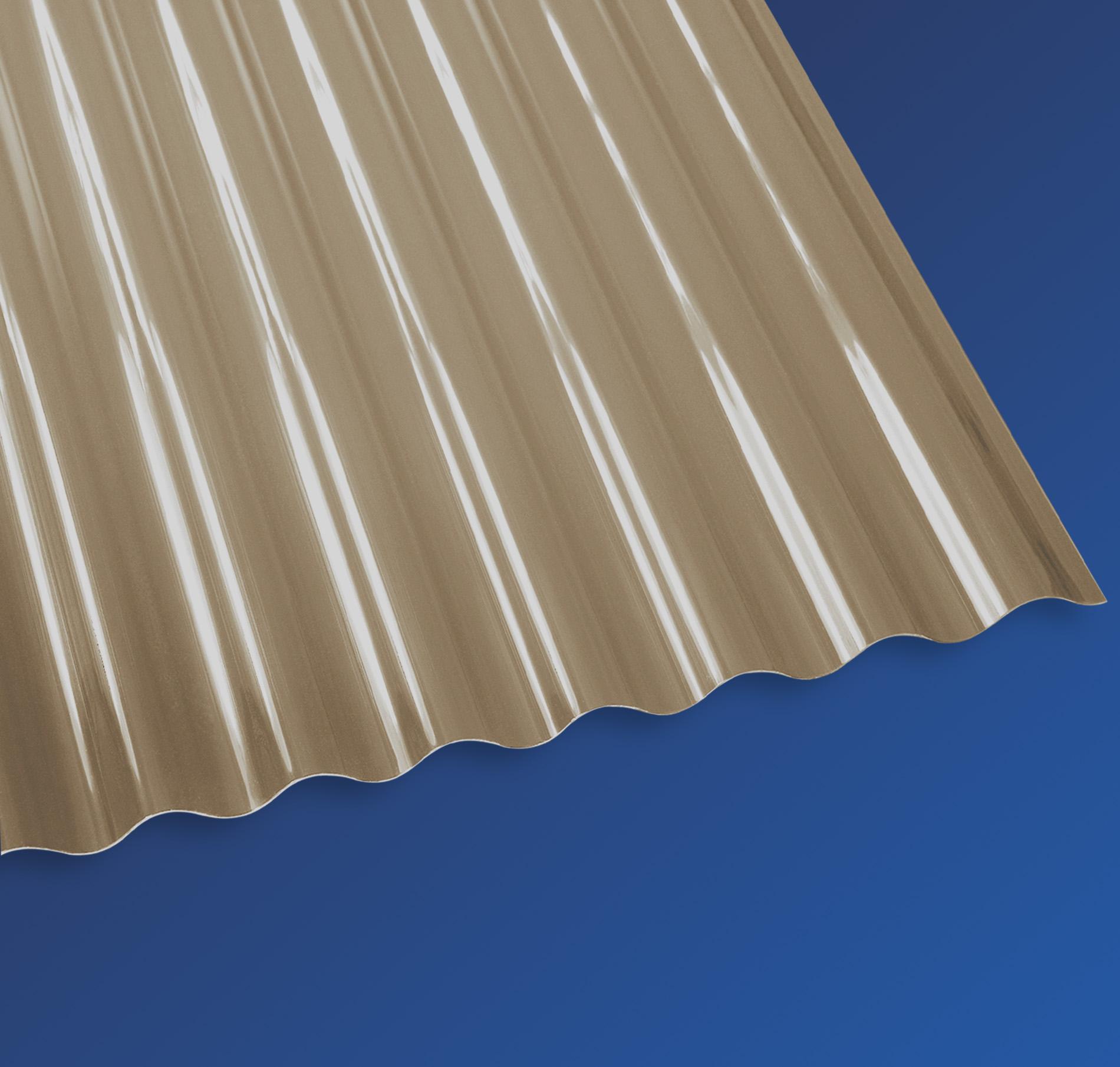 PVC Wellplatten Micro-Sinus 32/9 bronce