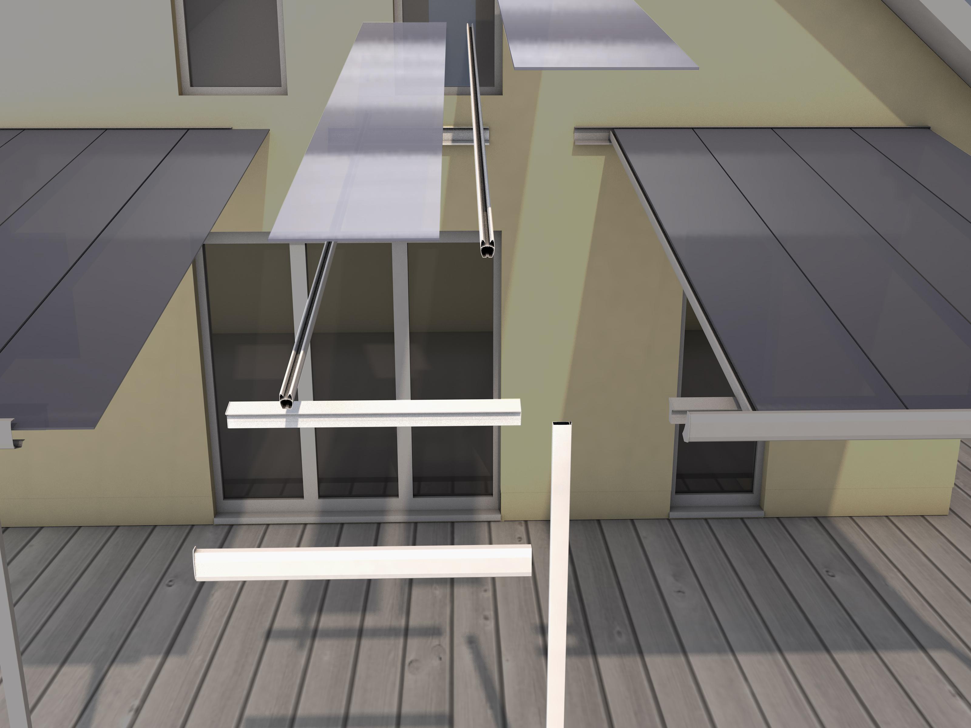 Gutta Terrassenüberdachung Bausatz Erweiterungsmodul