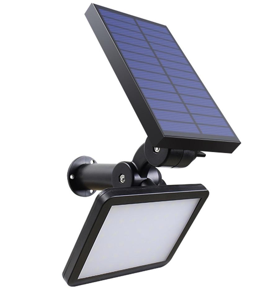 LED Solarlampe SL 50C mit Erdspieß schwarz