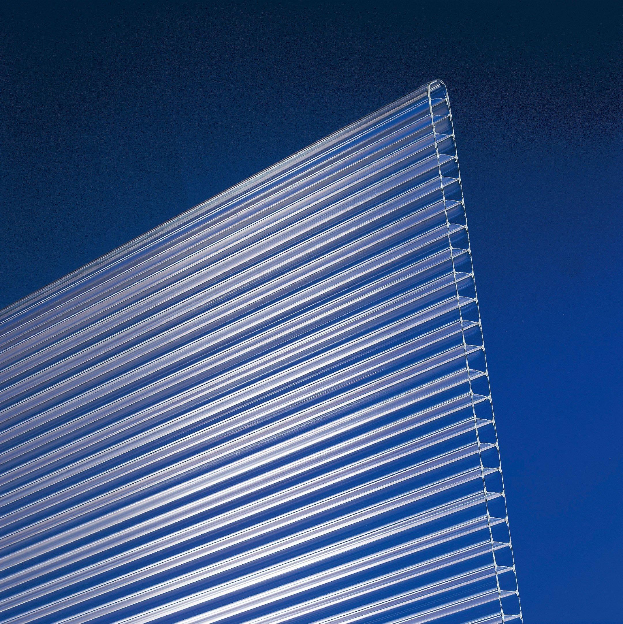 Polycarbonat Stegplatten 10 mm eco klar - Zuschnitt
