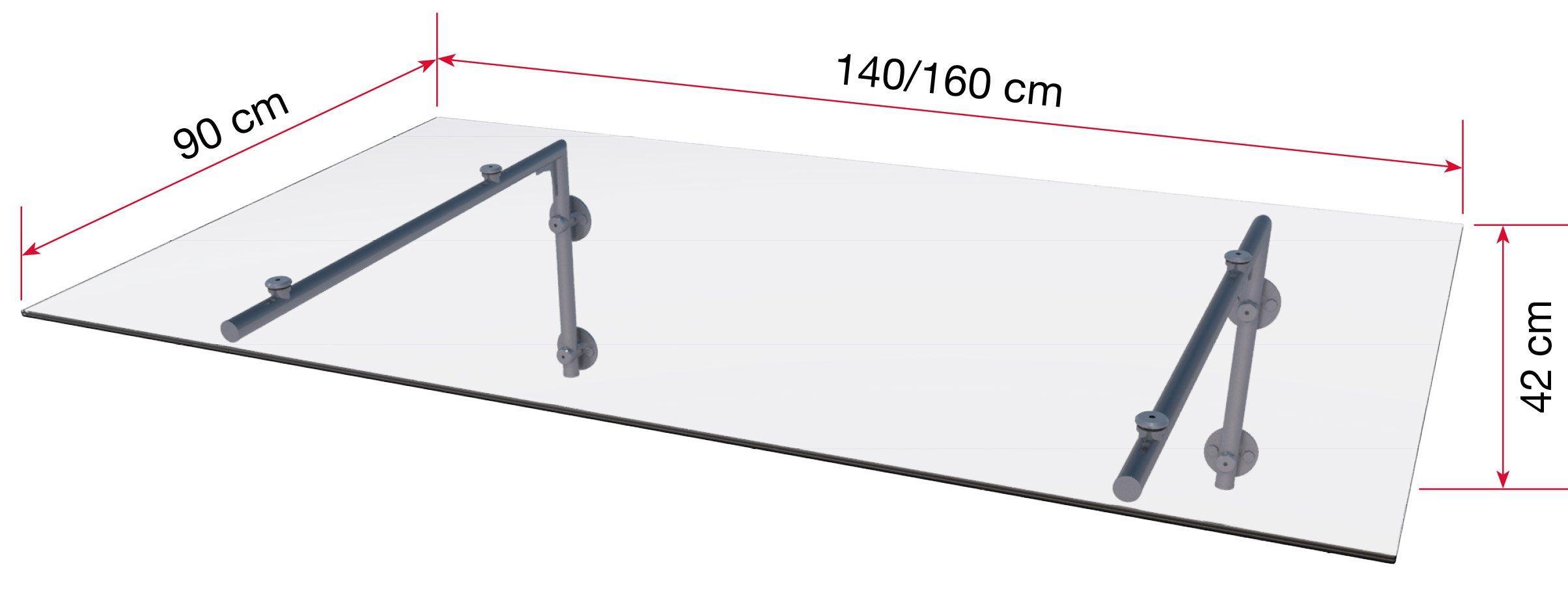 Edelstahlvordach HD/L