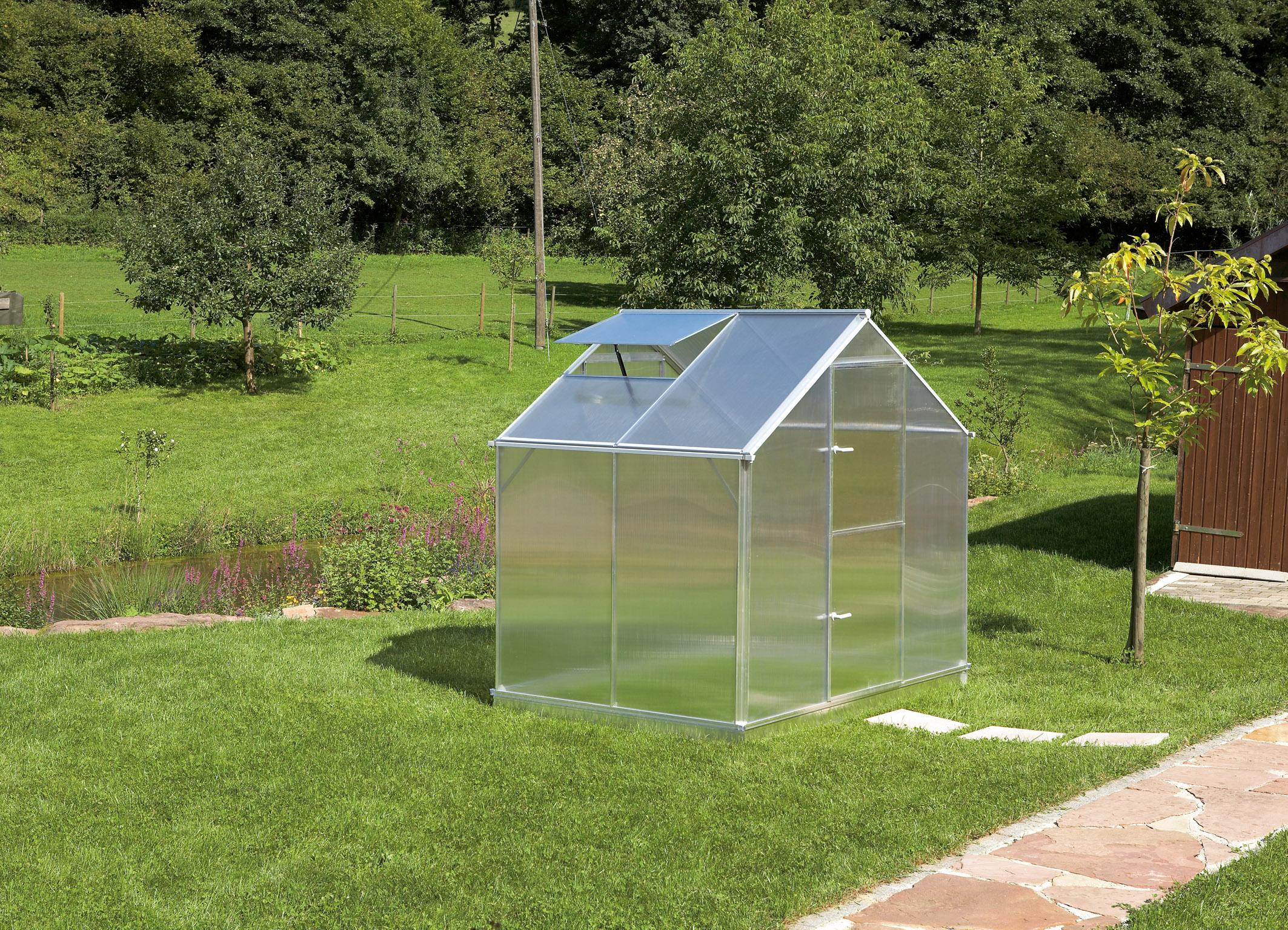 Gutta Aluminium Gewächshaus 3,50 m² Typ F2