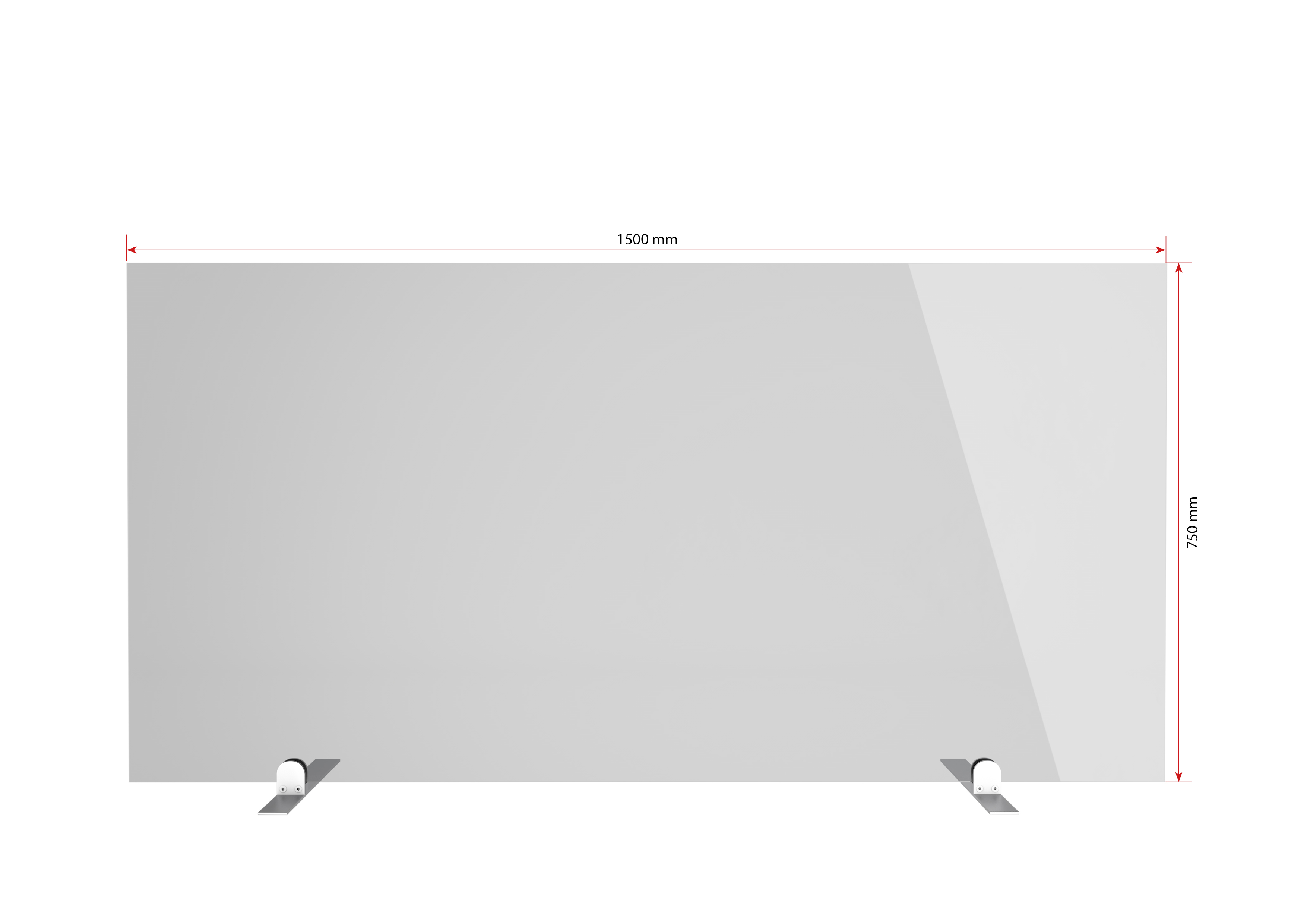 Gutta Spuckschutzwand Premium 1500 x 500 x 6 mm