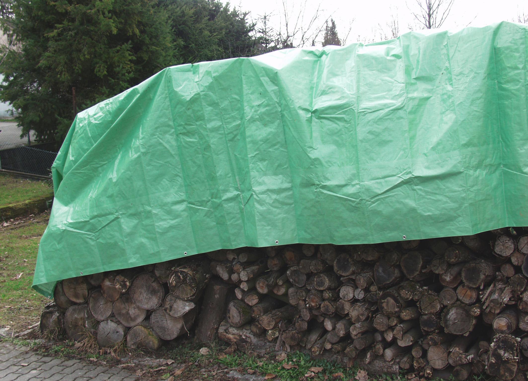 Gewebeplane 80 g für Holzabdeckung 1,5 x 10 m