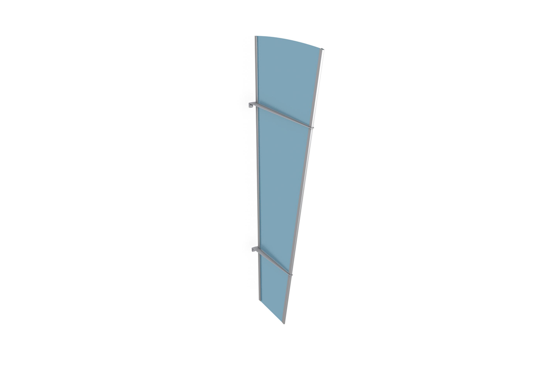 Seitenteil L Edelstahl - satiniert blau