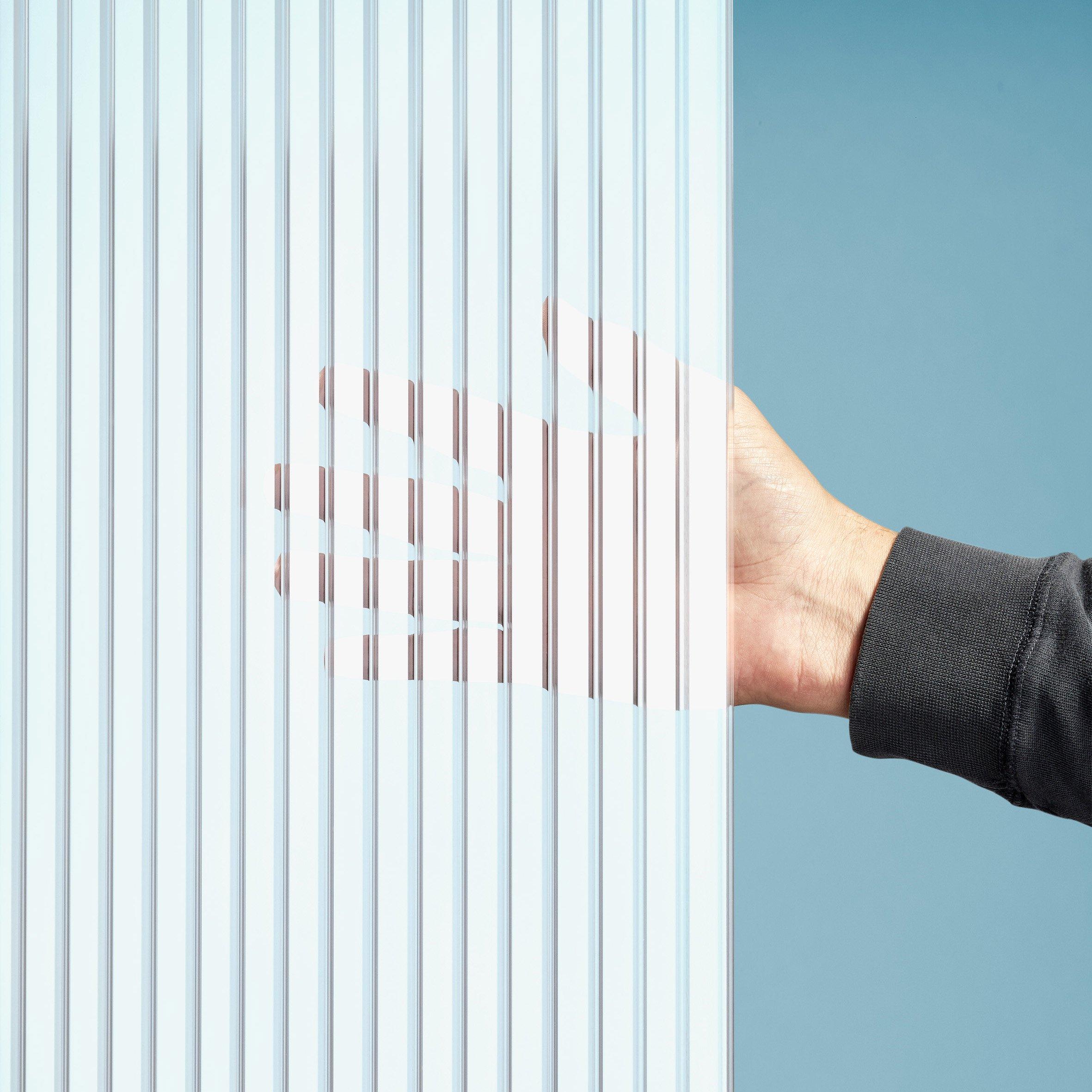Gutta Polycarbonat Stegplatten 16 mm - Zebraplatte weiß