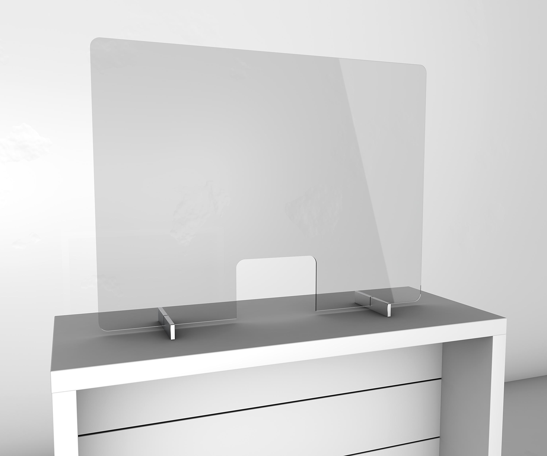 Gutta Spuckschutzwand mit Durchreiche 1000 x 750 mm