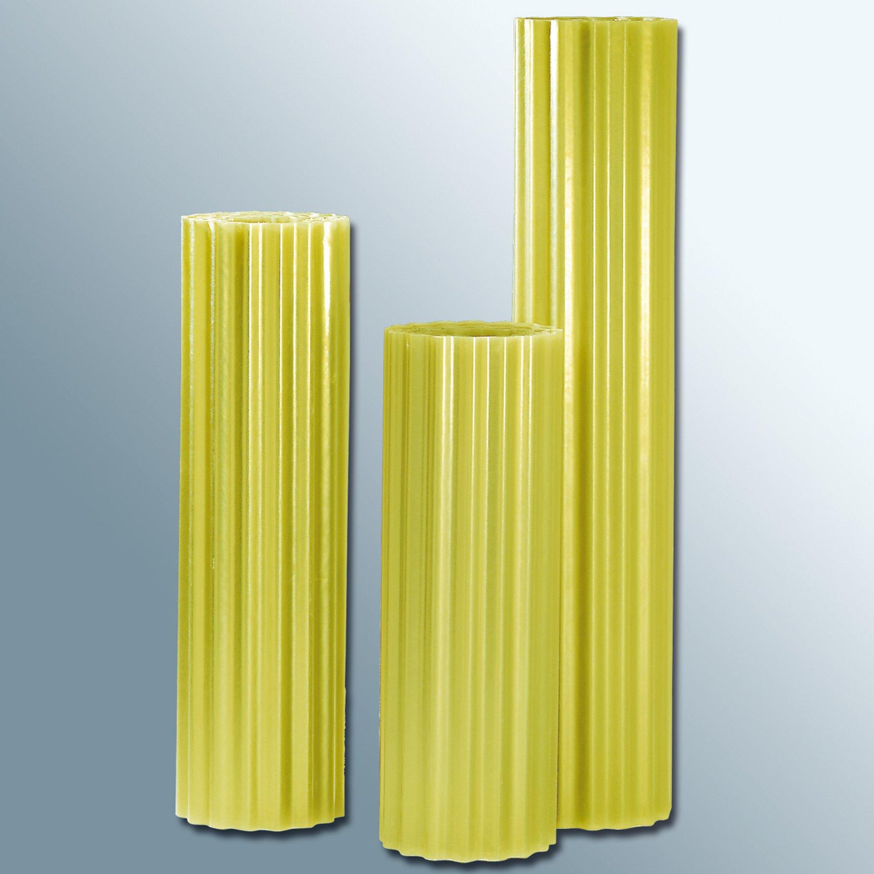 Polyester Lichtwellbahn gelb transparent  - Langrollen mit 30 lfm.
