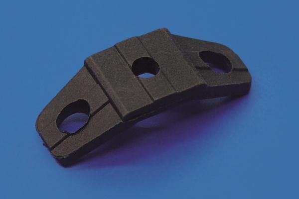 GWH 19 a Strebenverbinder gebogen schwarz ohne Nase