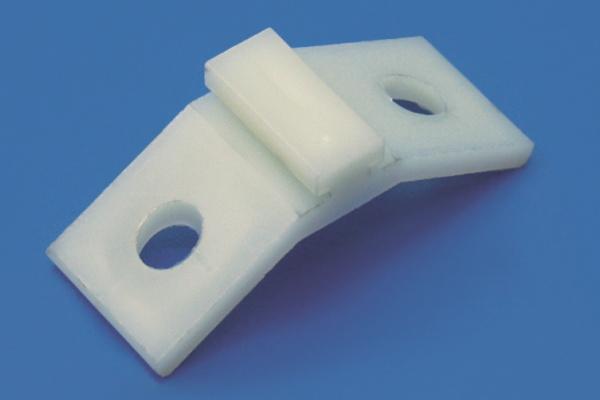 GWH 19 b Strebenverbinder gebogen weiss mit Nase